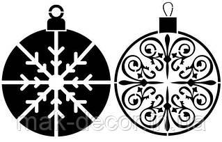 Новогодняя наклейка на окно белая -2шт  (20х20см)