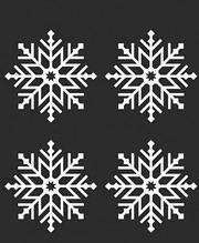 Новогодняя наклейка на окно белая -4шт  (25х25см)