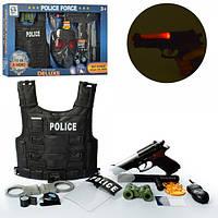 Набор полицейского с жилетом, оружием (свет, звук) и другими аксессуарами HSY-032-33