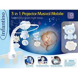 INFANTINO Серый «Мобиль музыкальный с проектором 3 в 1»