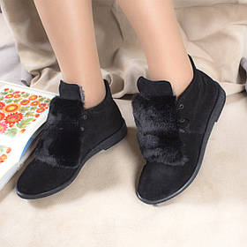 Жіночі черевики шкіряні на хутрі Ніцца з натуральної замші 36-40р. 01048