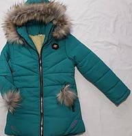 Детская зимняя курткана овчине оптом на 5-9 лет