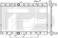Радиатор охлаждения двигателя Nissan X-Trail T32 (Koyorad) FP 50 A321-X