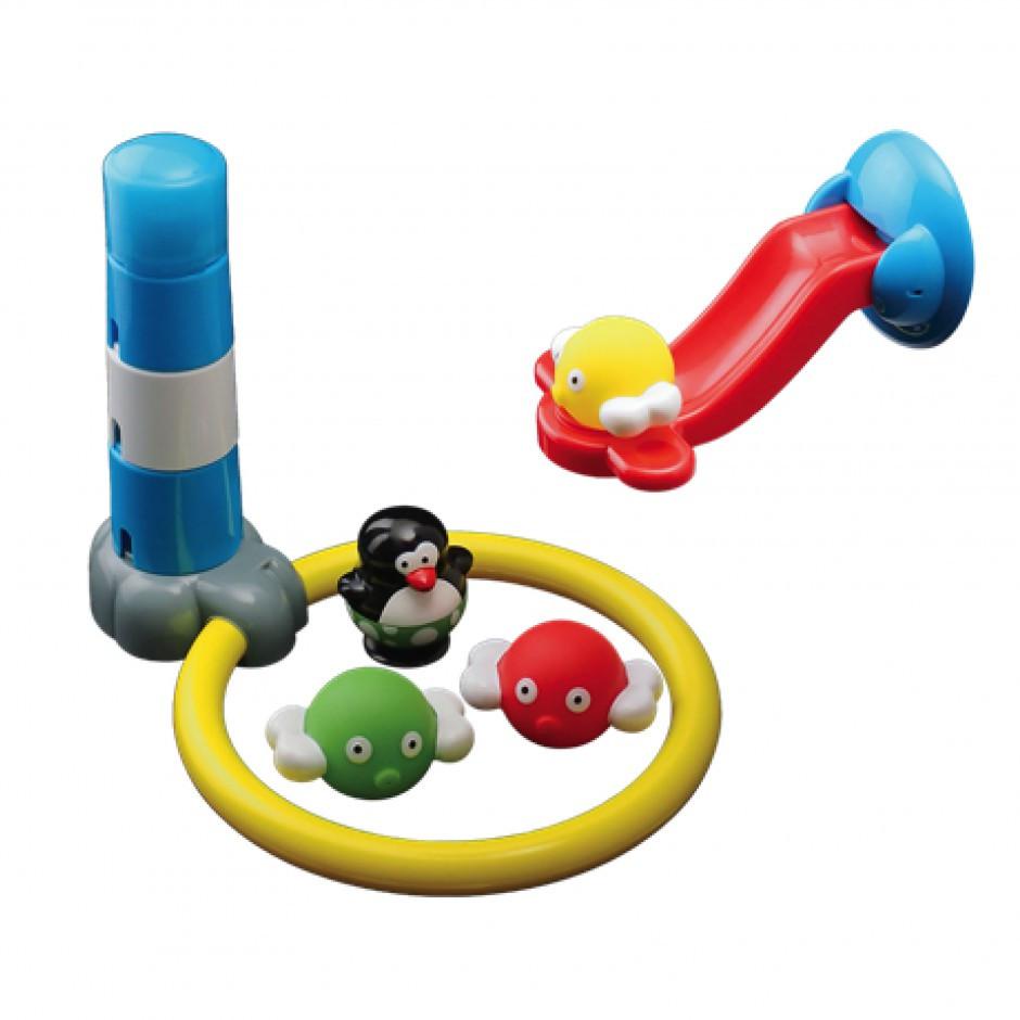 """Water Fun Игрушка для ванны """"Пингвиннчик и сумасшедший трамплин"""""""