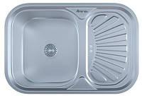 Мойка для кухни врезная прямоугольная 750 х 490 х 175/180 IMPERIAL 0,8 матовая