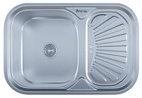 Мойка для кухни врезная прямоугольная 750 х 490 х 175/180 IMPERIAL 0,8 декор