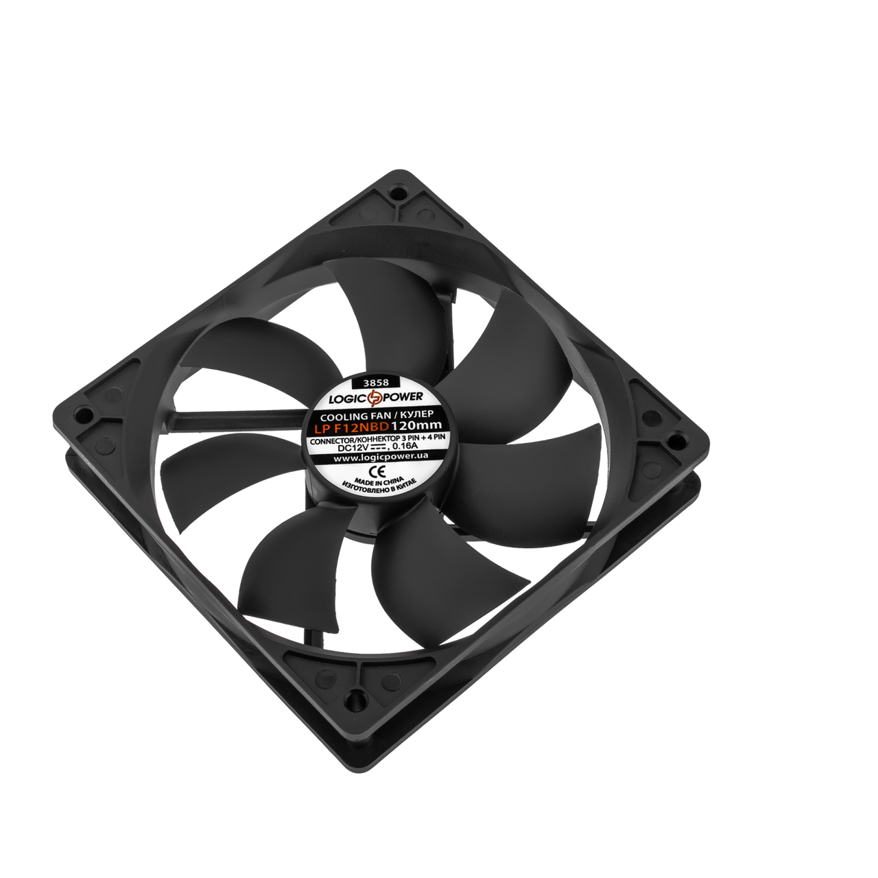 Вентилятор LP F12NBD, 120MM, 3pin + 4pin