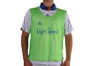Манишки для тренировок  Liga Sport (зеленая)