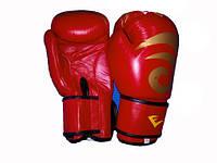 Перчатки боксерские Кожа EVERLAST  ( р-р 10oz, красн)