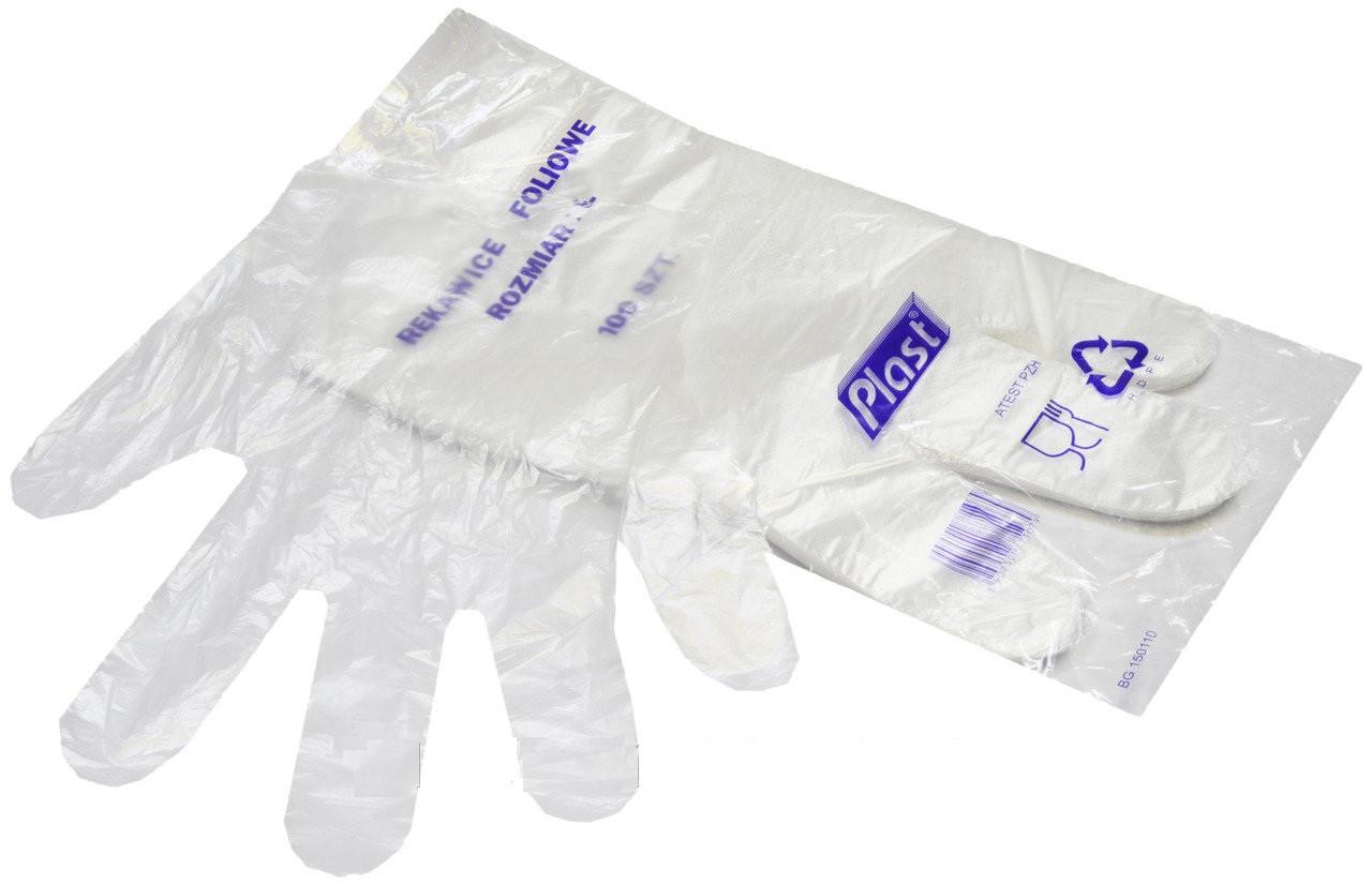 Перчатки Plast полиэтиленовые фасовочные