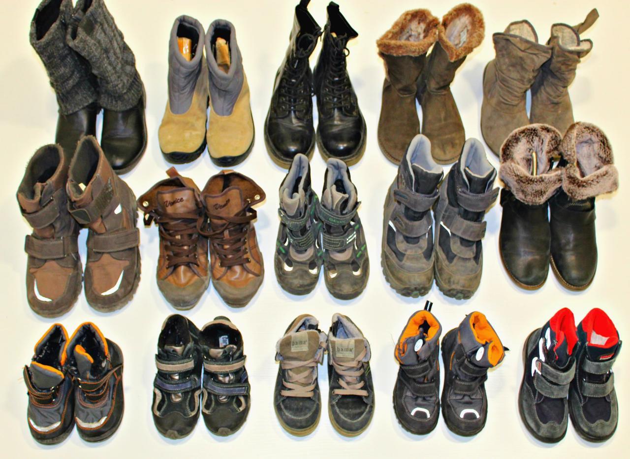 Секонд хенд ботинки детские мальчик девочка зимние теплые кожа заменитель Польша Оптом от 25 кг