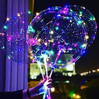 Воздушные светящиеся шарики бобо на палочке,светящиеся бобо шары оптом