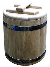 Дубова діжка для солінь дубова на 20 літрів, фото 3