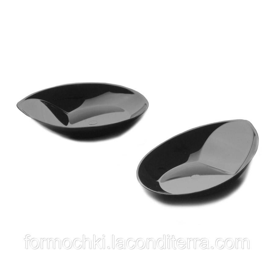Тарелка для десертов черная «Bon-Bon Coccia» (8,5x7 см)