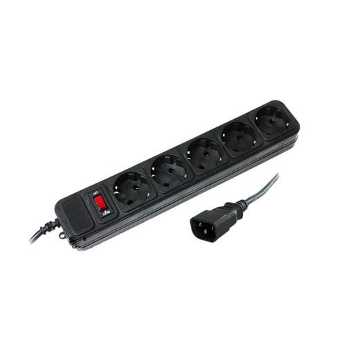 Фильтр сетевой 0.5м Patron (SP-52U) 5 розеток, для ИБП Black