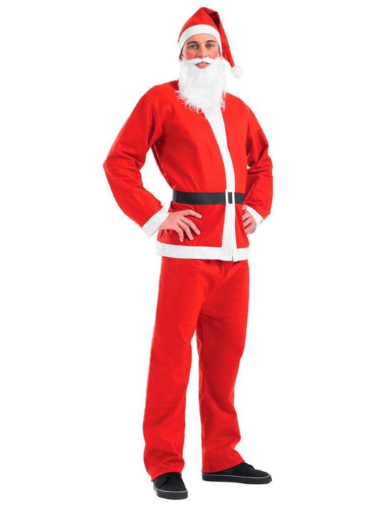 Маскарадный костюм Санта Клауса красный карнавальный комплект штаны, пиджак