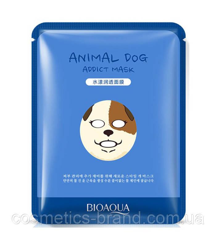 Маска-серветка у вигляді тварин BIOAQUA – Собачка