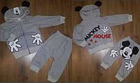 Детский спортивный костюм двойка с ушками Микки 74-95 р, детские спортивные костюмы от производителя оптом