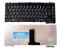 Оригинальная клавиатура для Toshiba Satellite A200 series, ru, black, глянец