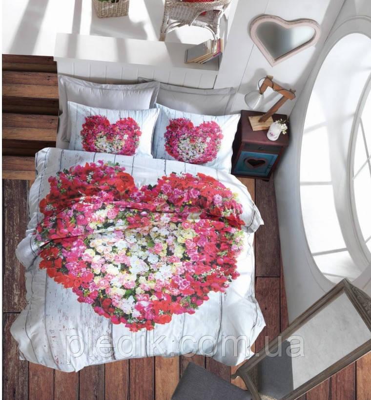 Двуспальное постельное белье 200х220 Cotton box 3D Ранфорс GARDEN VIZON
