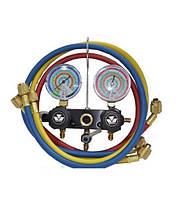 Манометрический коллектор МС 93661 MB  R-134, 407, 404, 22, 507 + 3 шланга  в комплекте