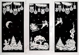 Новогодняя - Новогодняя сказка на окно 117х50 см х 3 шт