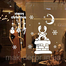 Новогодняя наклейка на окно- Новогодняя на окно (цена за размер 34х40 см)