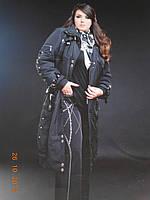 Длинное  французское стеганое пальто, фото 1