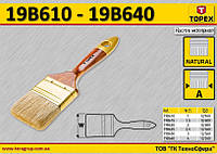 Кисть малярная для масляной краски W-100мм,  TOPEX  19B640