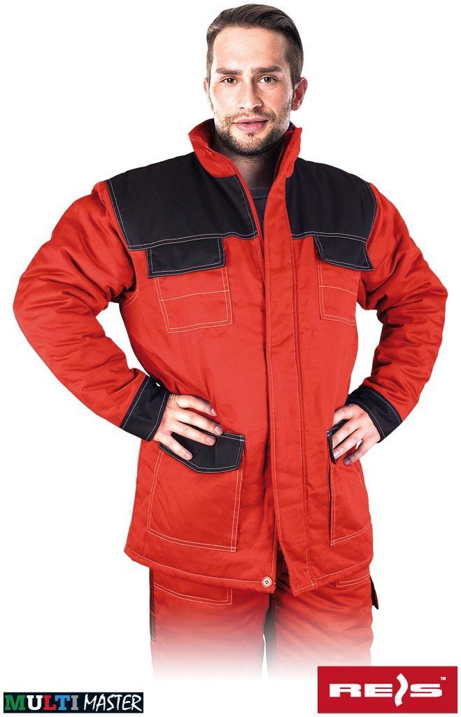 Куртка робоча утеплена червона REIS Польща (робоча зимовий одяг) MMWJL CB