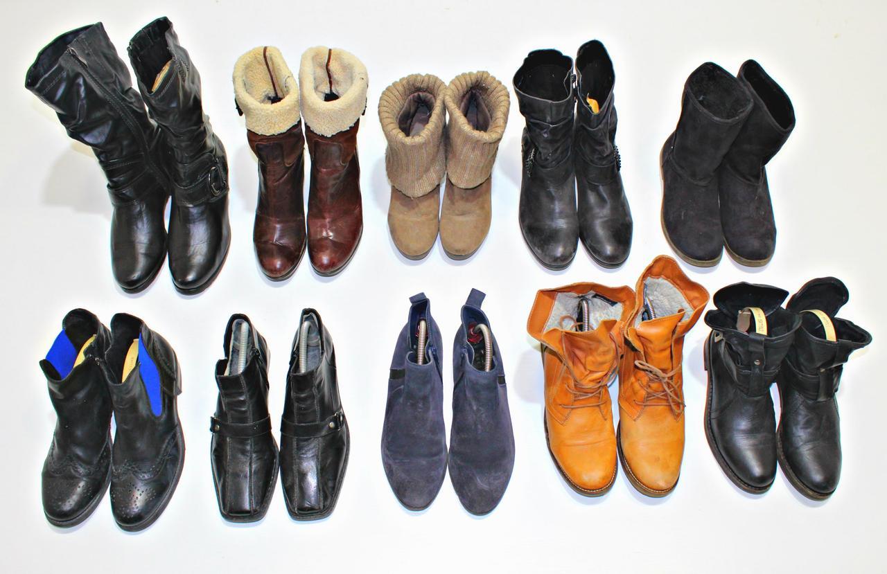 Секонд хенд сапоги ботинки теплые женские осень зима Польша Опт от 20 кг