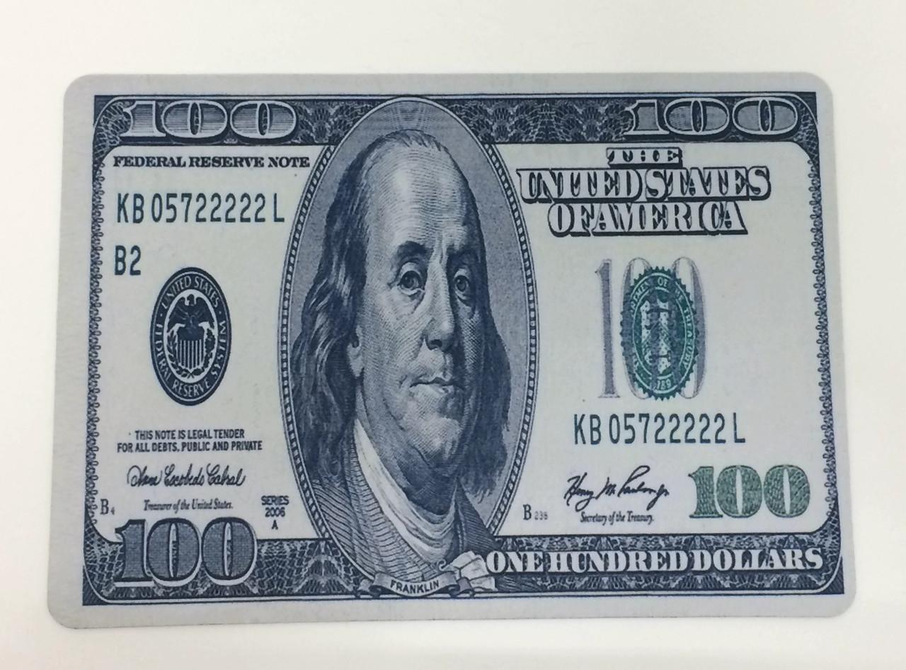 Коврик для мышки с рисунком Доллар 28*20 см