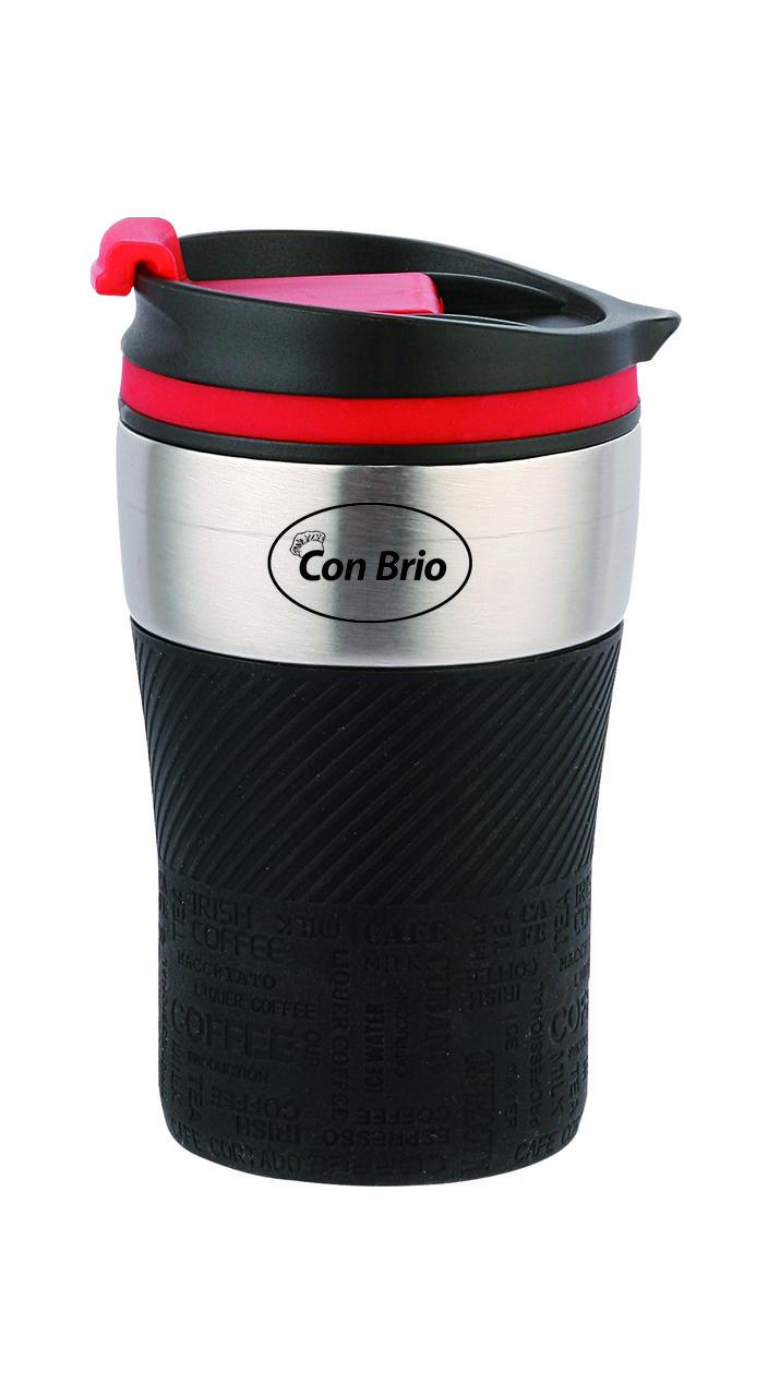 Термокружка Con Brio CB-360 - Черная, на 280мл, нержавейка