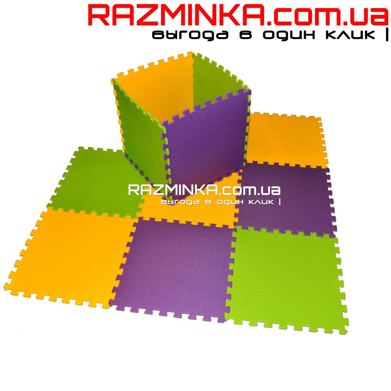 Напольный коврик-пазл для детей 48х48х1см (х10шт)