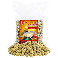 Бойли Benzar Feed Boilies Fish Garlic White 16mm 5kg