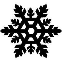 Новогодняя - снежиночка 3 10х10 см