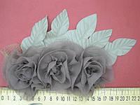 Цветы шифон пришивные, фото 1