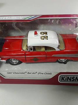 Машинка Kinsmart 1957 Chevrolet Bel Air (fire chief)