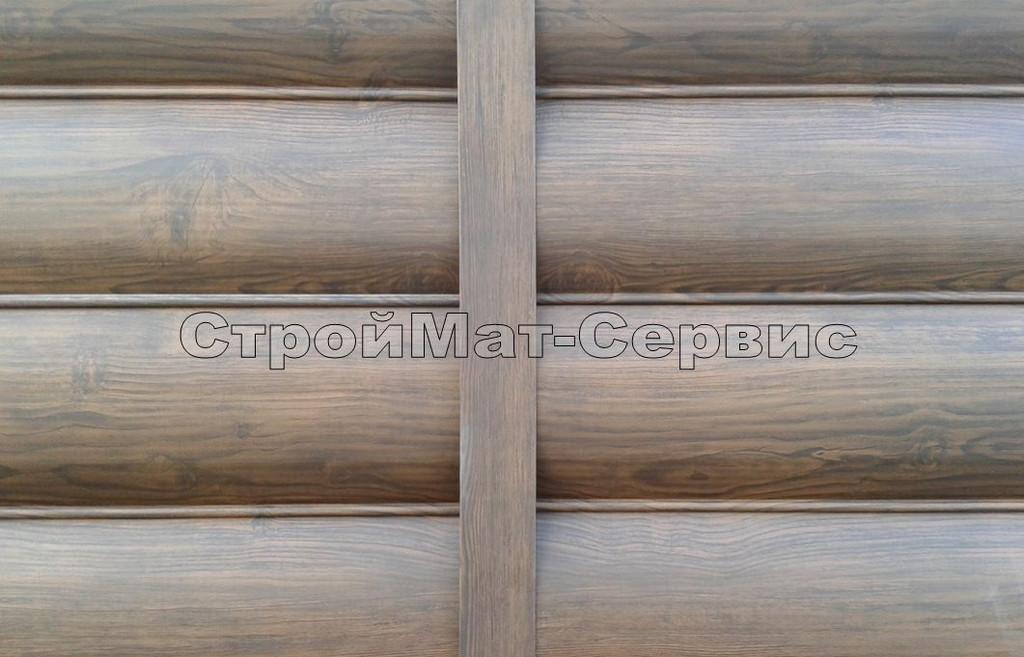 Для соединения панелей применяется соединительная планка 50мм, но ширина и конфигурация по желанию заказчика может быть любой, например, иммитировать брус, как выступающий столб.