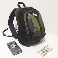 Качественный городской рюкзак Onepolar 1297 Green небольшой  18 литров