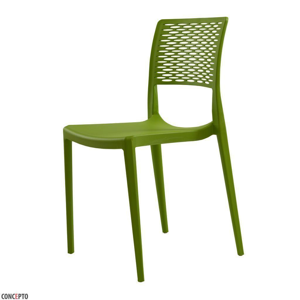 Grace (Грейс) cтул пластиковый зелёный