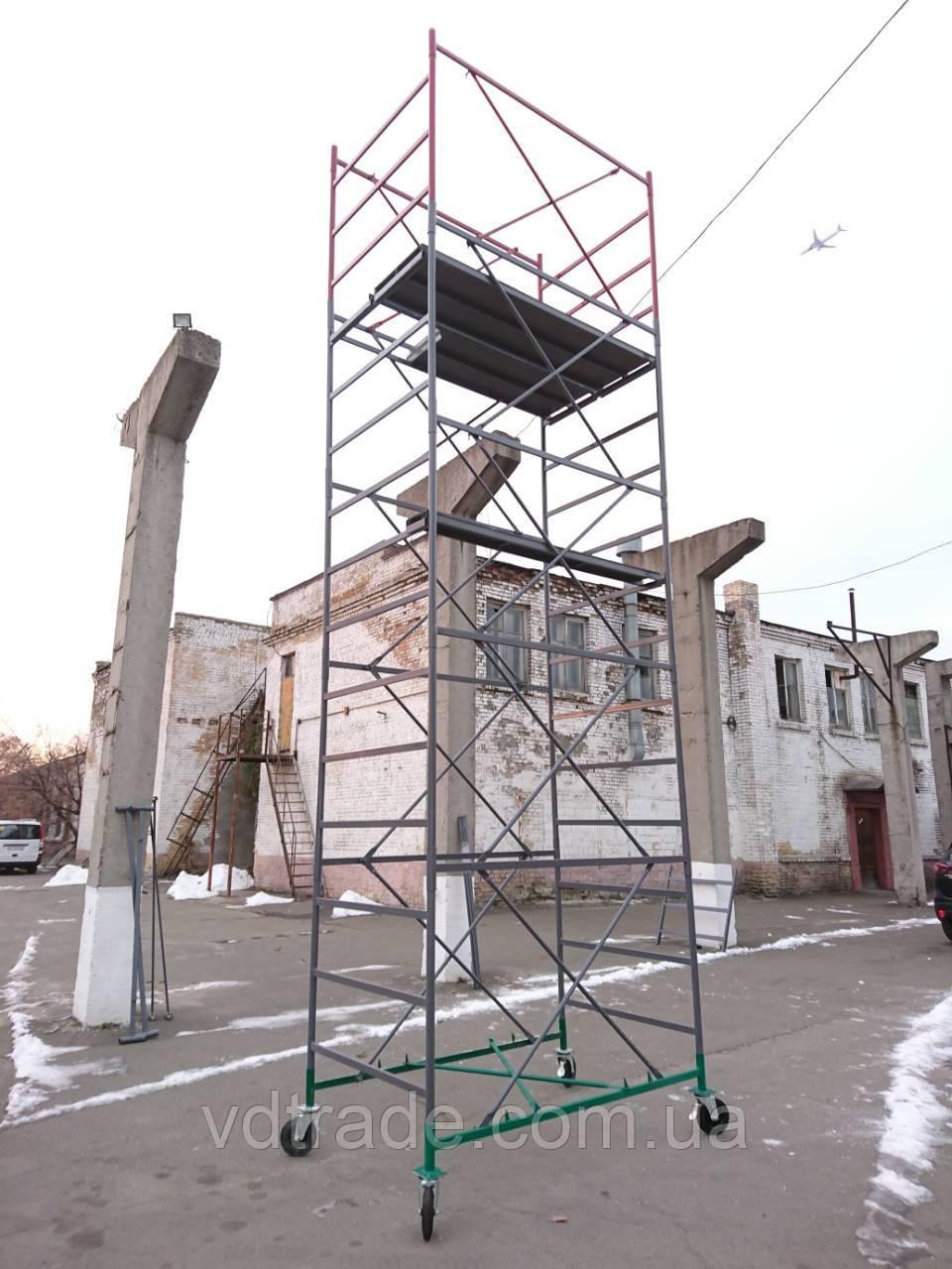 """Вышка-тура (2х1,2м) """"Вектор-Облегченный вариант"""" - 6,2 м (4+1) Базовый блок, Украина"""