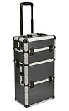 Алюминиевый  косметический чемодан 3в1, фото 4