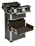 Алюминиевый  косметический чемодан 3в1, фото 5