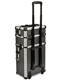 Алюминиевый  косметический чемодан 3в1, фото 3
