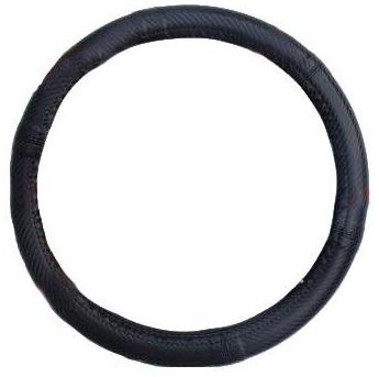 """Чохол на кермо Elegant Maxi шкіра """"преміум"""" карбон черній розмір M 37-38 см EL 105 232"""
