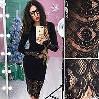 Женское шикарное черное платье