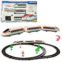 Железная дорога 2934A-11  308см, локомотив 2шт, вагон, свет