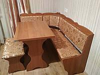 Кухонный уголок Лорд, разные комплектации ламинированная ДСП, Простой стол, кухонный уголок, Бежевый