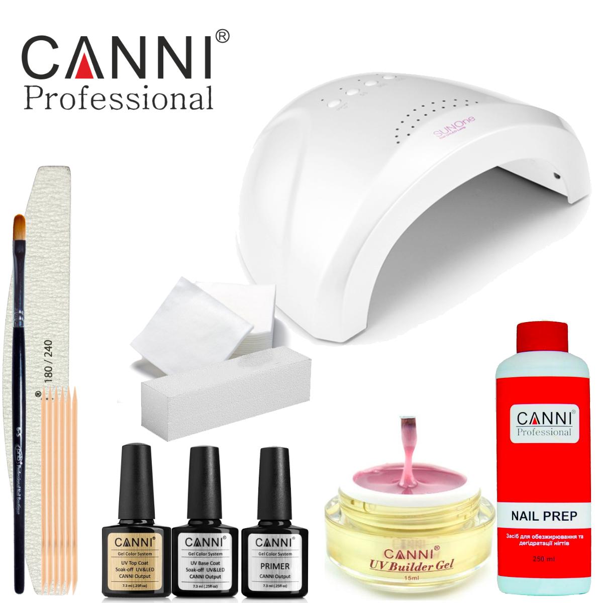Набор для наращивания Canni (с УФ лампой SUN One)